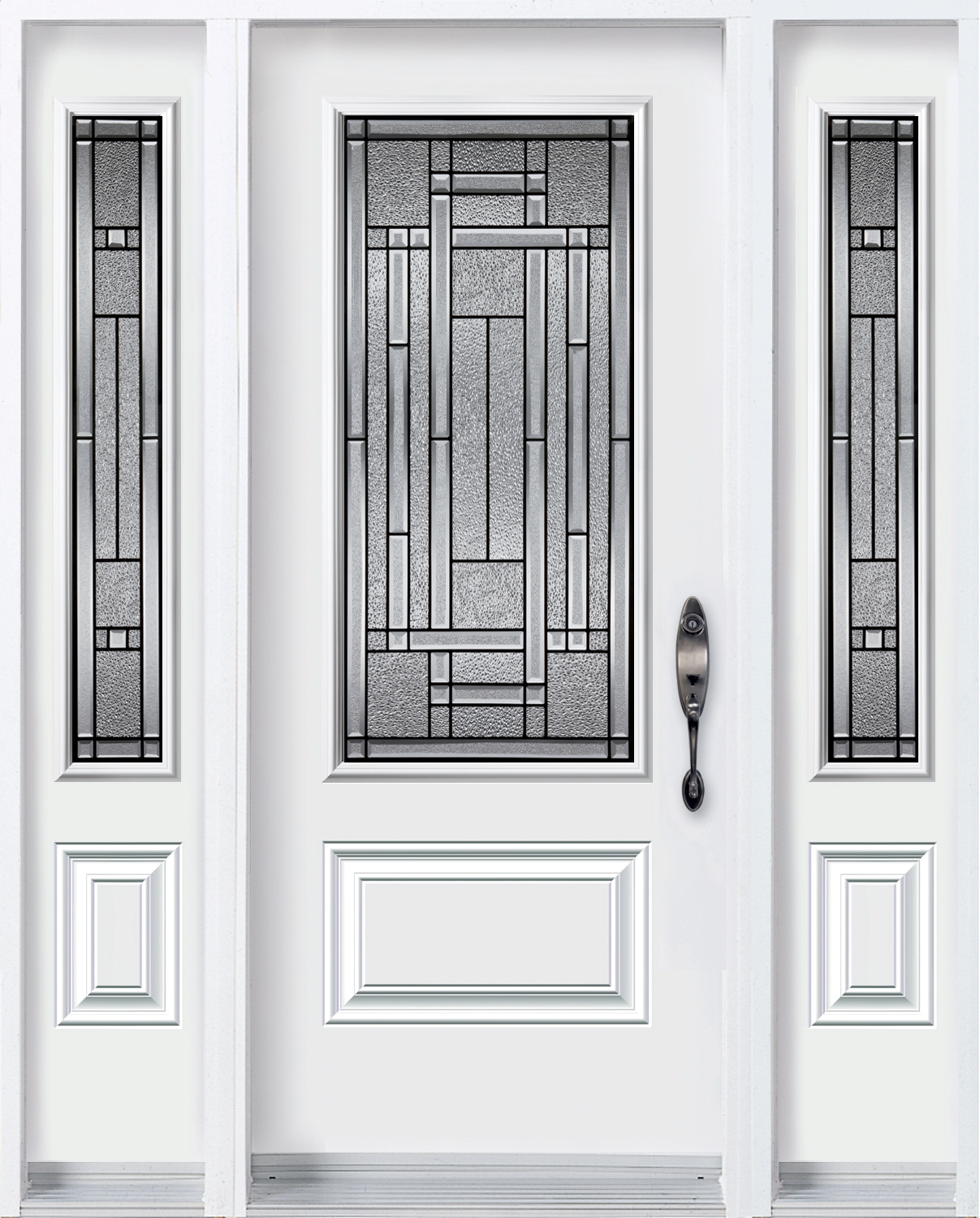 Door with 2 sidelites with Attraction glass kits