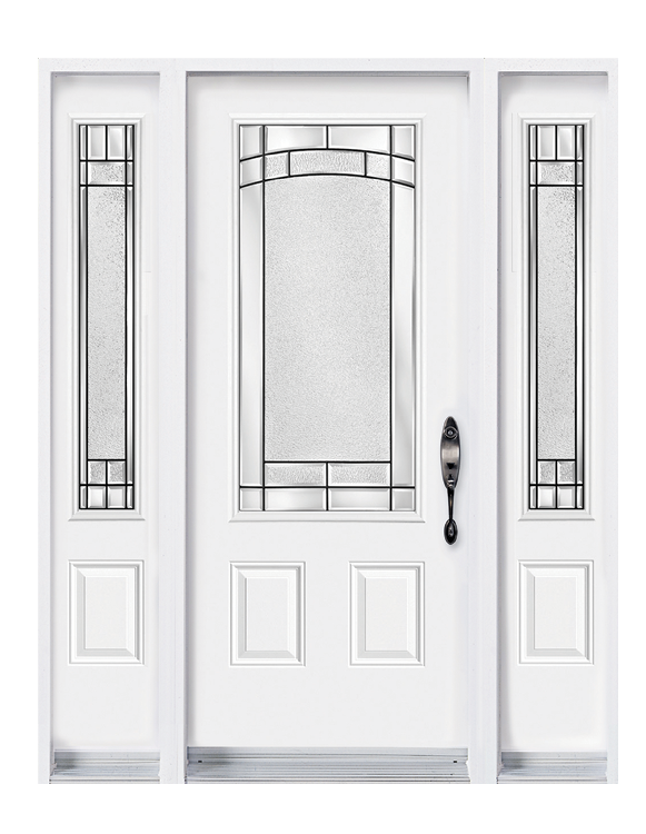 Door with 2 sidelites with Element glass kits