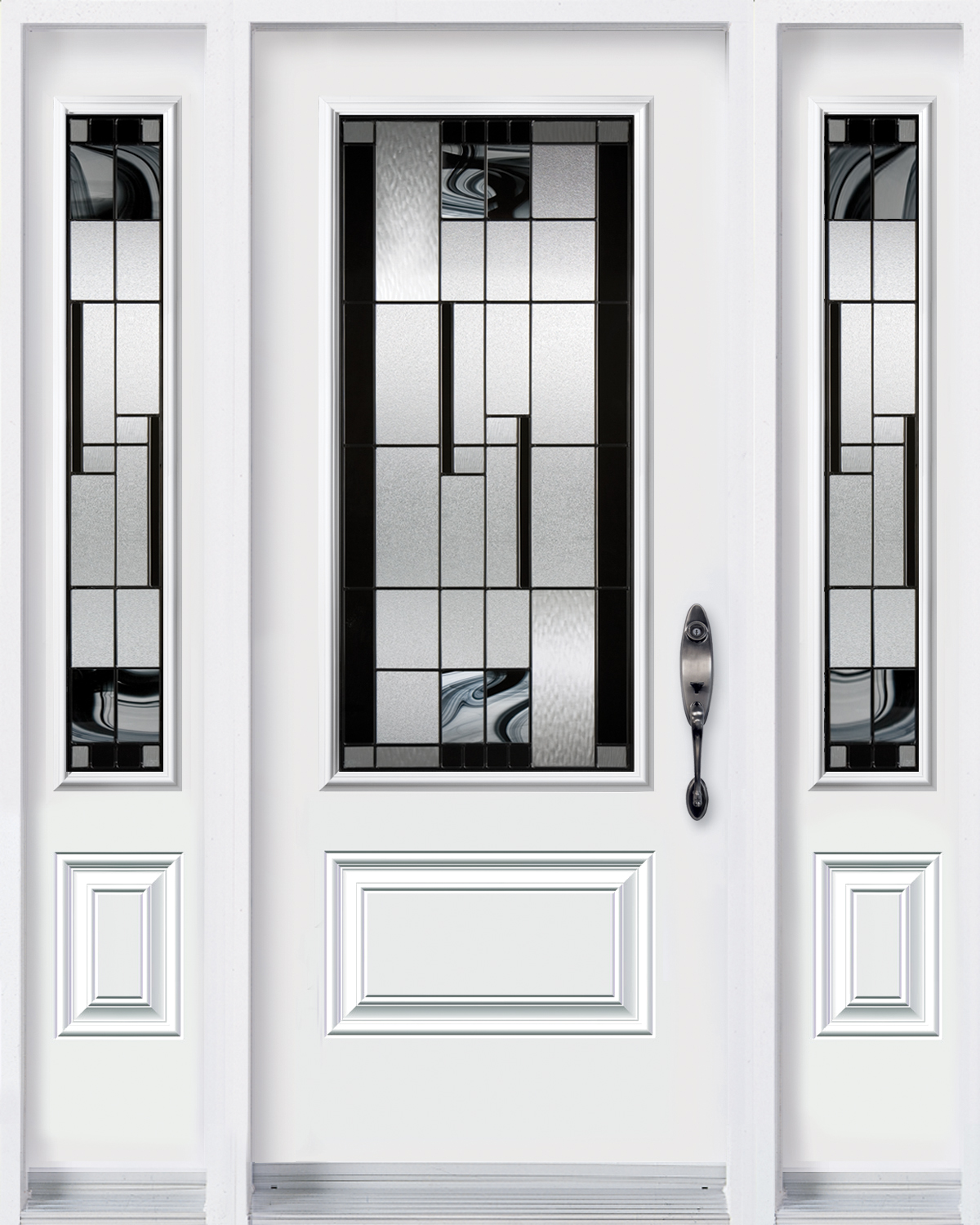 Door with 2 sidelites with Kallima glass kits