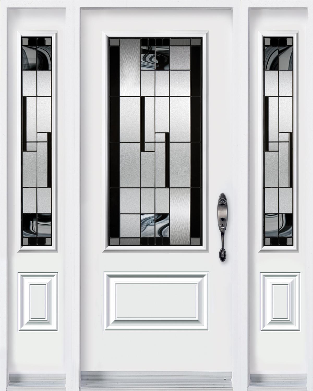 Door with 2 sidelites with Kallima glass kits
