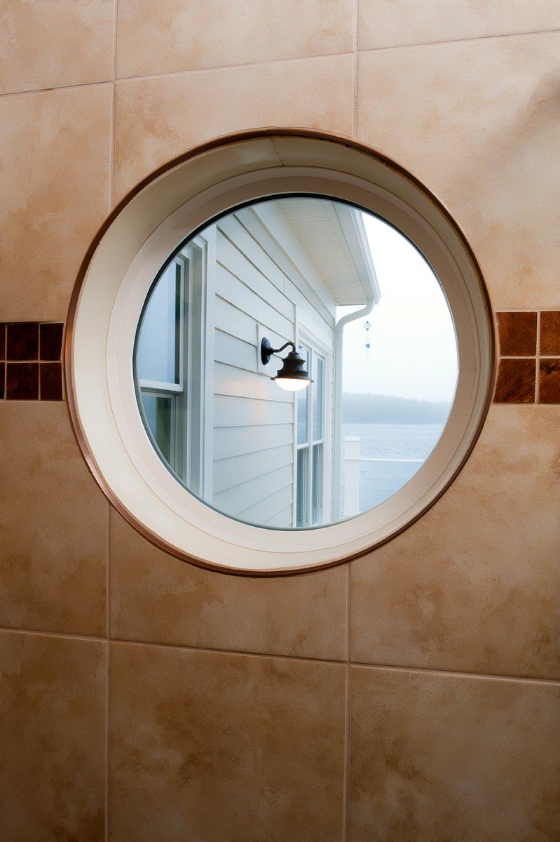 Circular Window, custom made window, custom window shapes