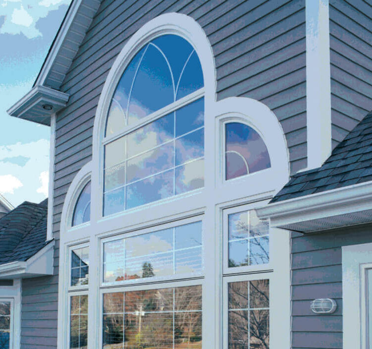 A beauty shot of a variety of Kohltech Casement Shapes Windows