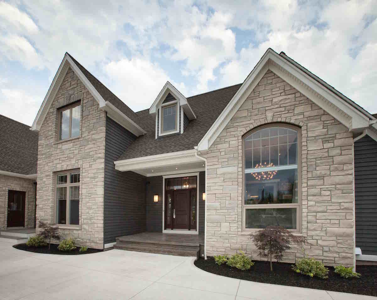 Select Casement Windows on a house, exterior view