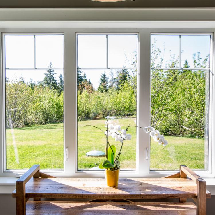 Beautiful Casement Window with flower