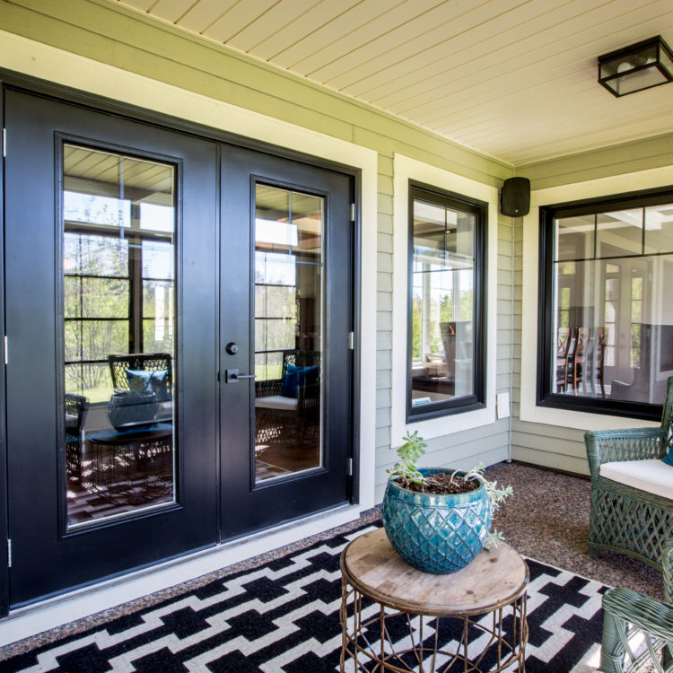 Black Exterior Garden Door on porch