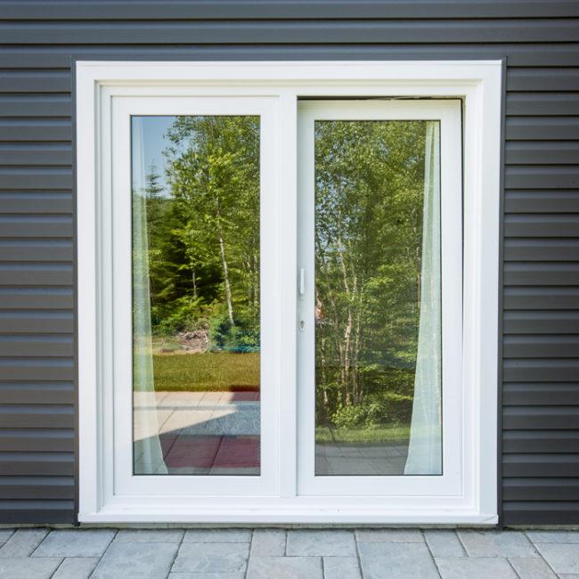 Exterior view of a tilt & turn patio door
