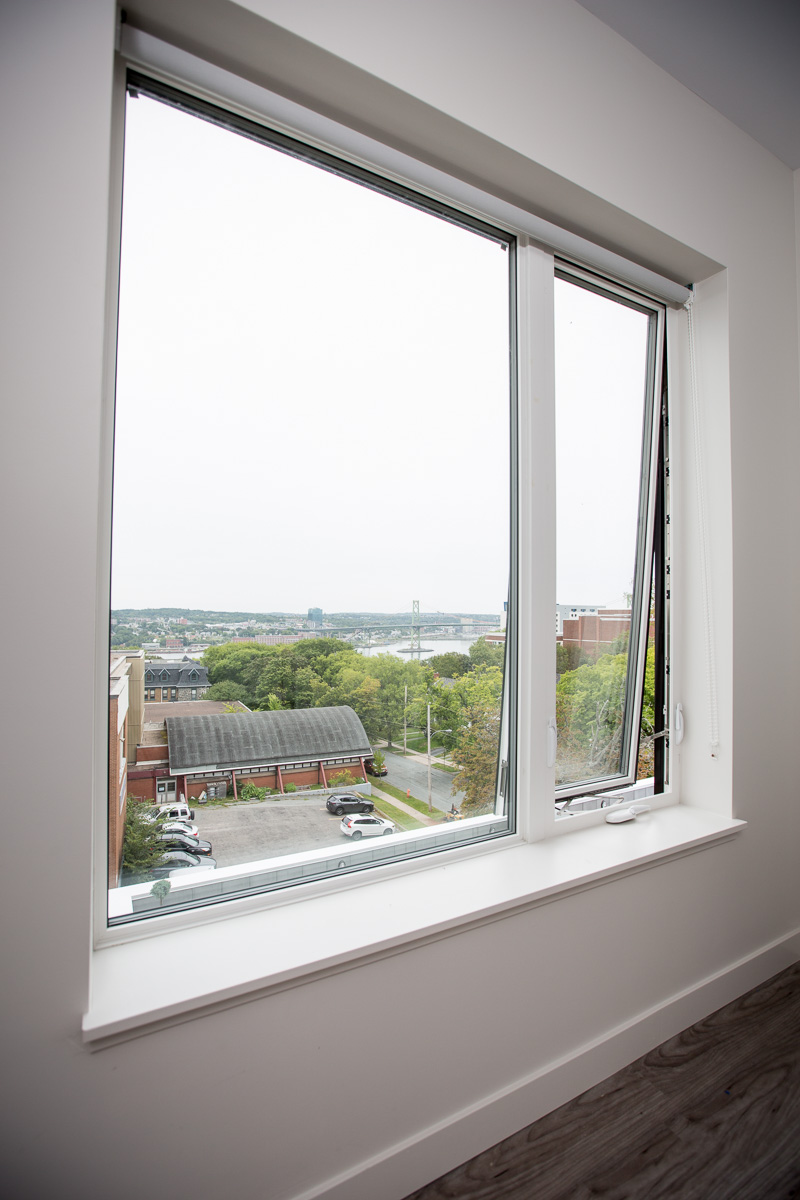 Interior shot of an awning window with great view