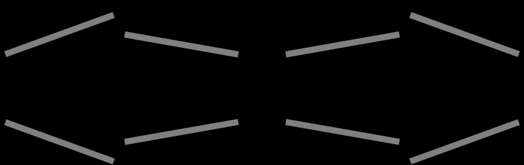 Diagram showing the swings of different Double Door layouts