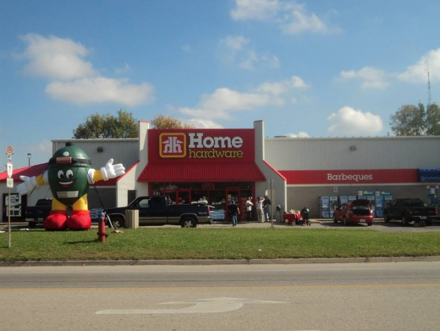 Exterior shot of the Acton Home Hardware building