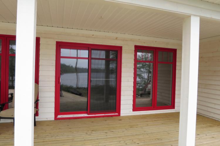 Amazing Red Patio Door & Casement window
