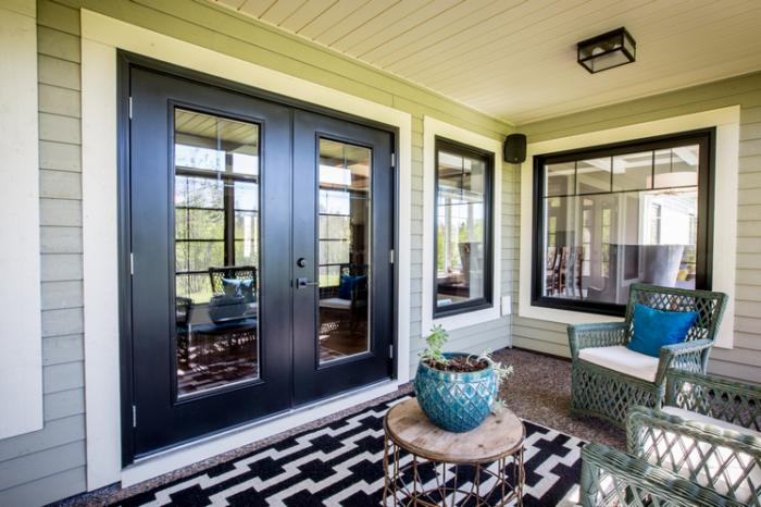 Black Garden door and windows