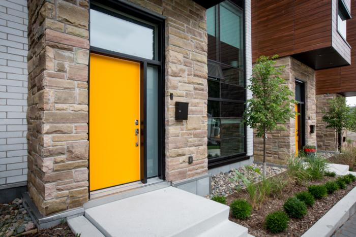 Vog Steel door Painted custom yellow