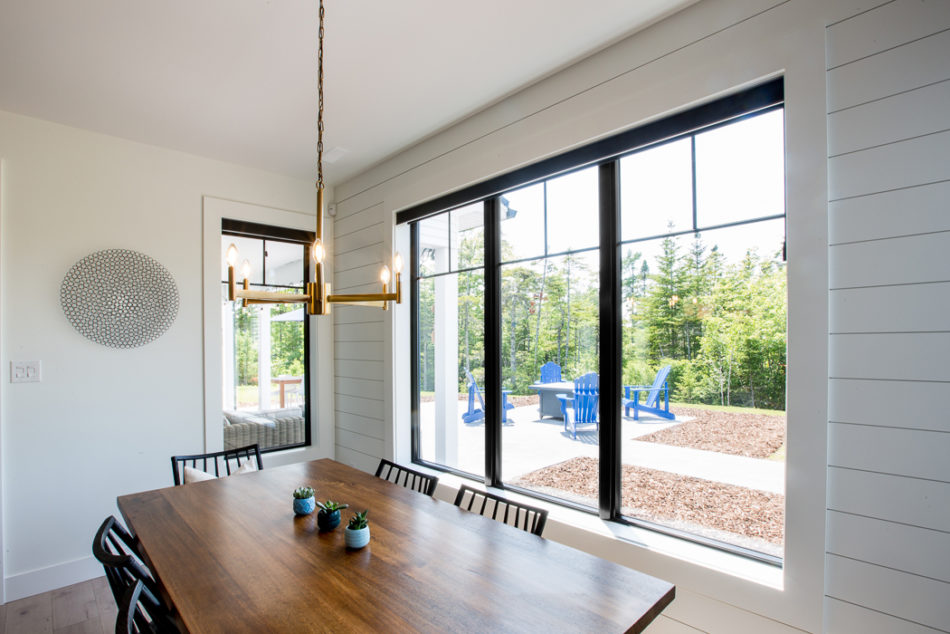 Black Interior Painted Fixed Casement windows