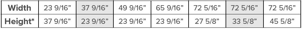 Kohltech Shield Sizes