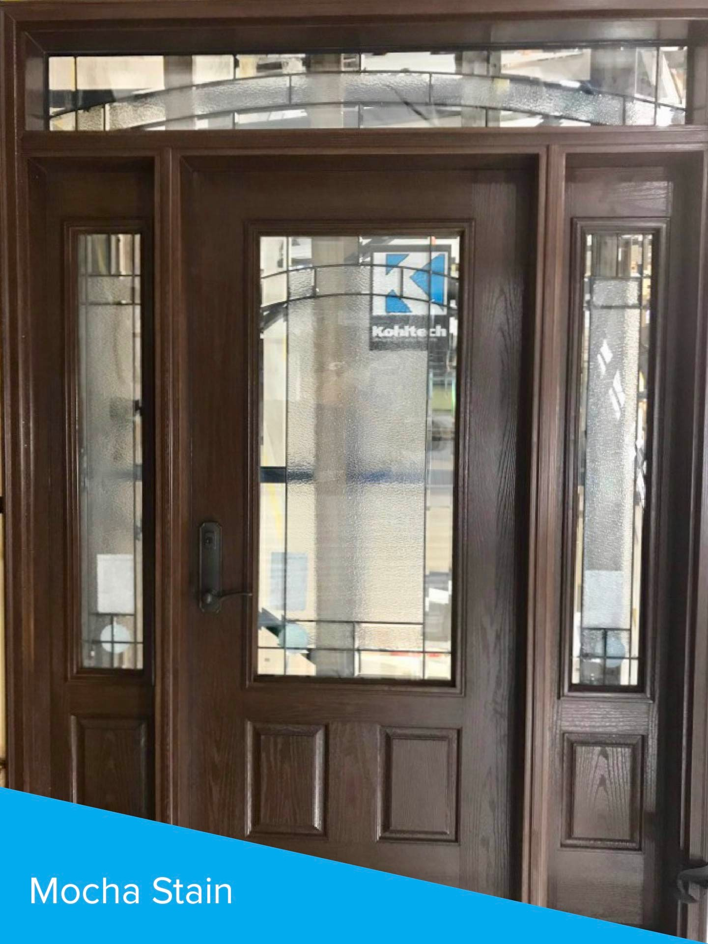 Mocha Stained Door with sidelites